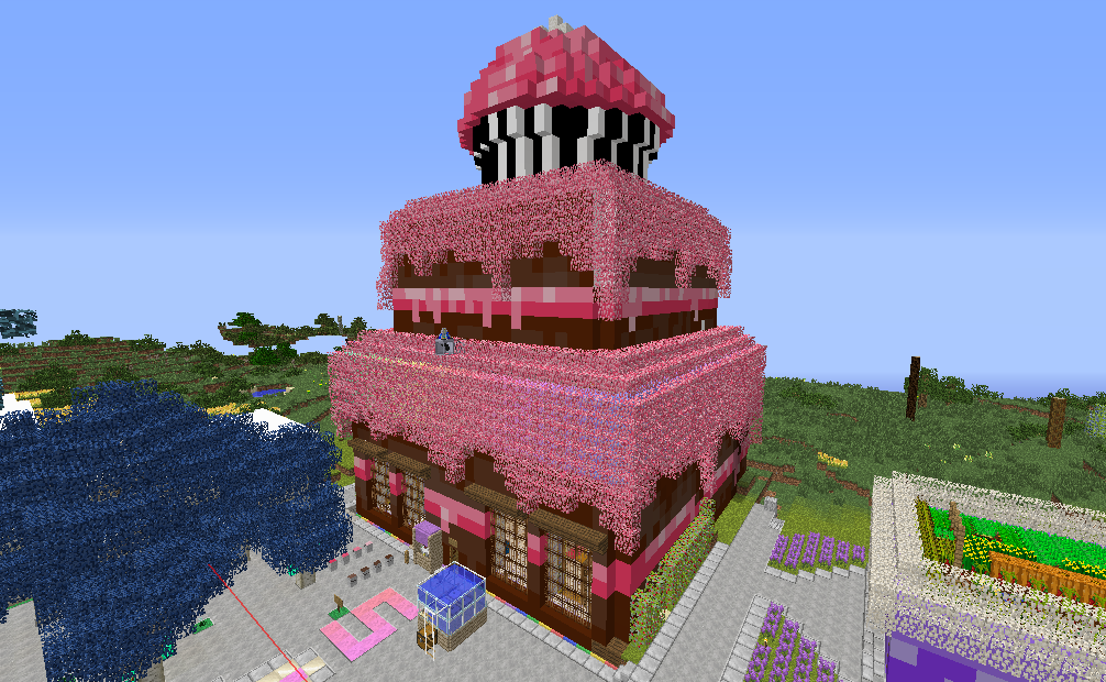 Giant cake base in Minecraft wwwCilitracom