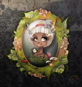 antlers, fantasy, artwork, cute, Cilitra,